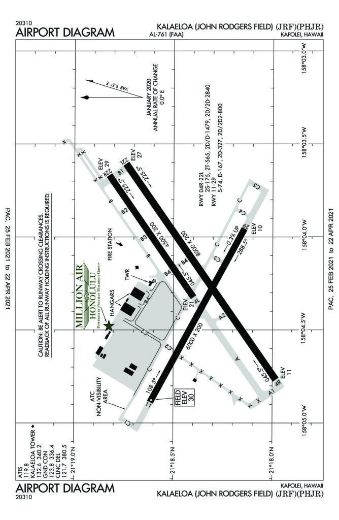 Diagram of PHJR airfield ].